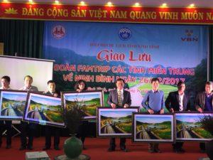 Giao lưu đoàn Famtrip các tỉnh miền Trung về Ninh Bình tại nhà hàng Vạn Bảo Ngọc ngày 26/12.